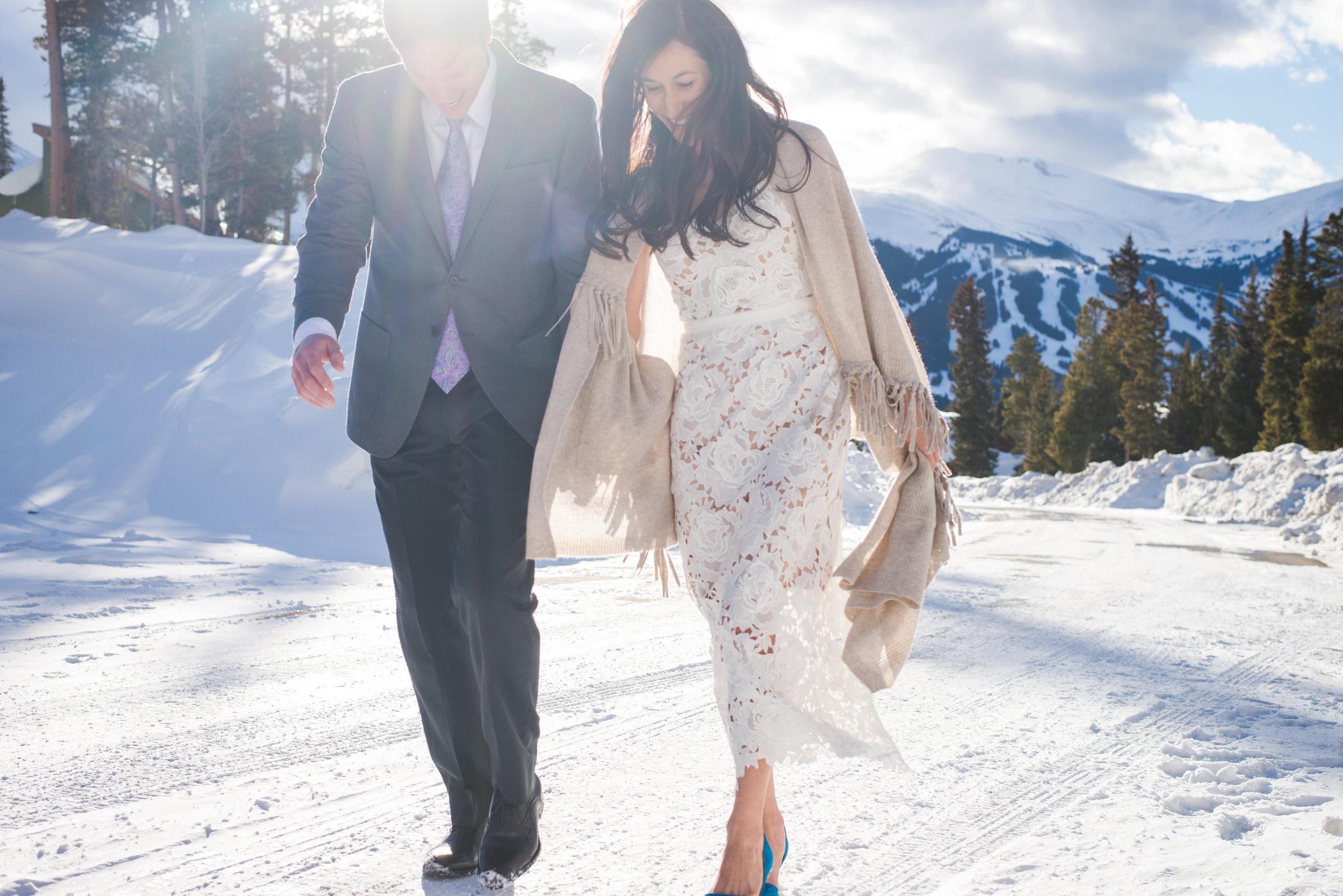 breckenridge winter intimate wedding | keeping composure photography
