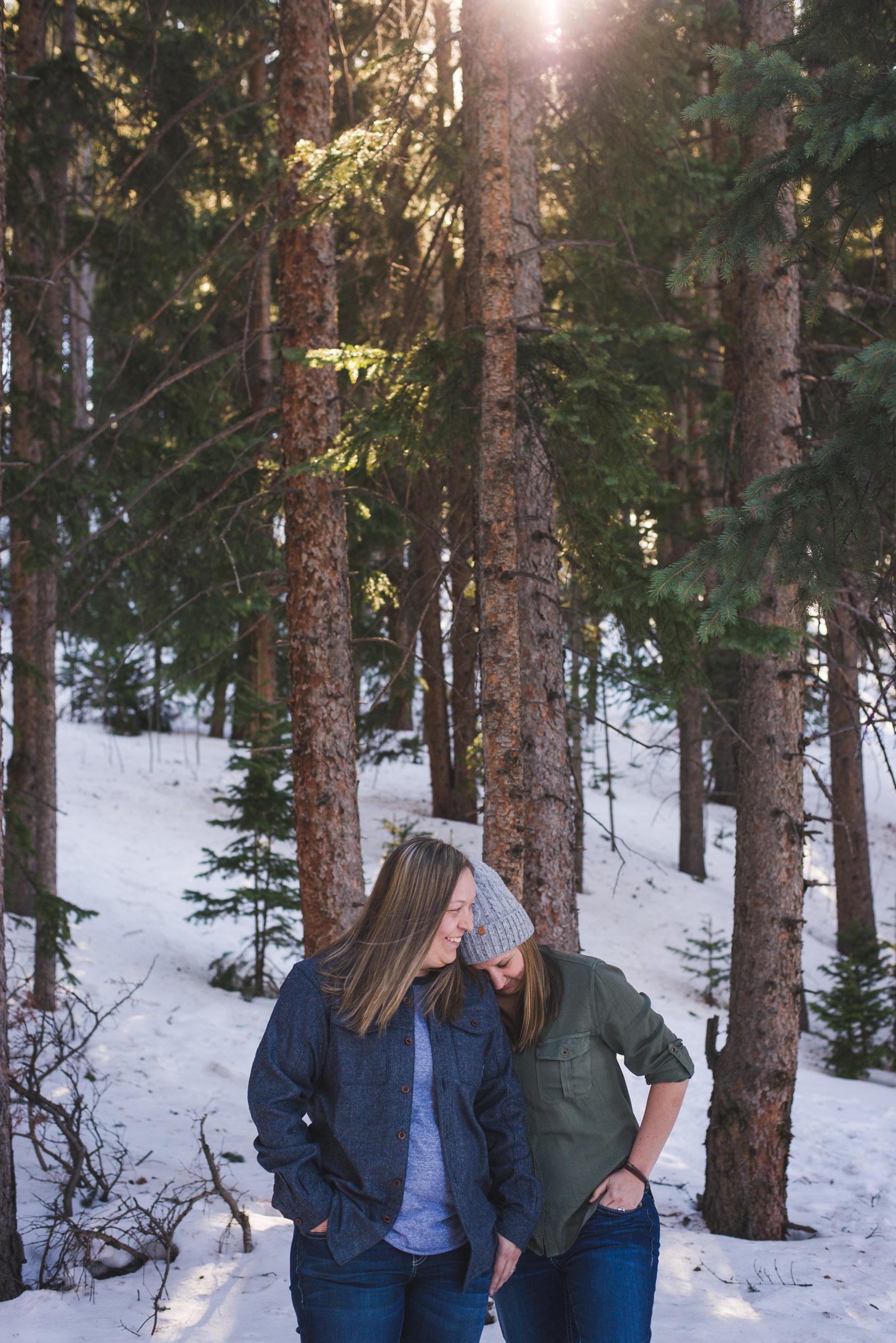intimate wedding celebration photos, two women | keeping composure photography