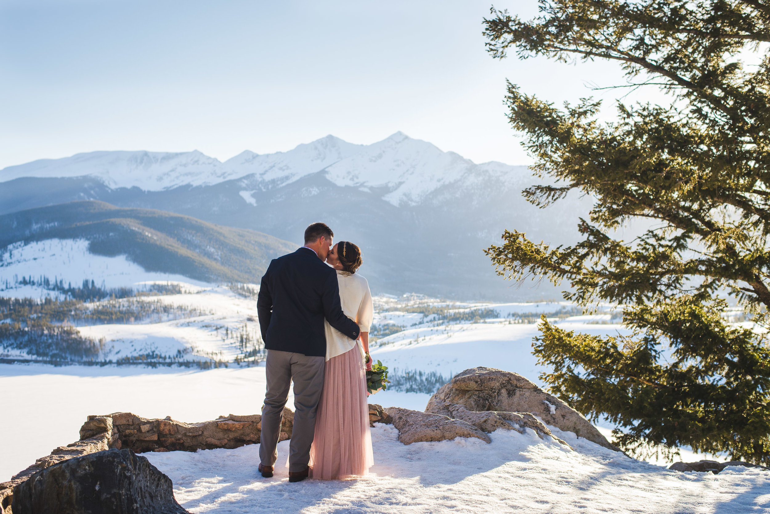 late spring snowy elopement in the colorado mountains | keeping composure photography