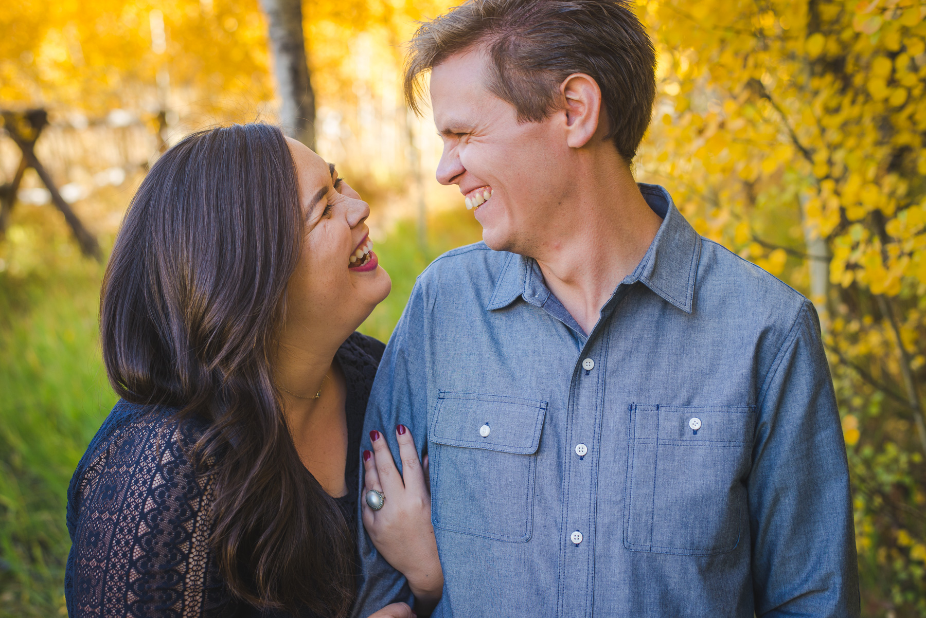 autumn engagement session in yellow aspen trees in the colorado mountains | keeping composure photography