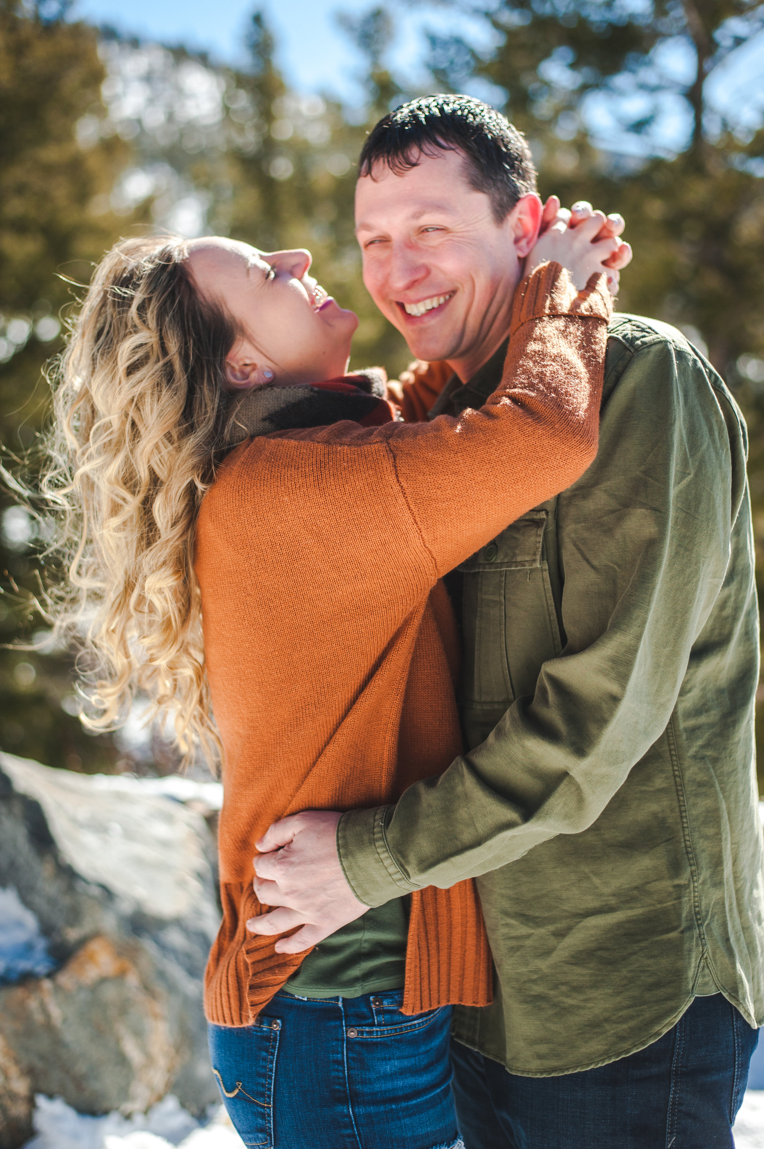 Sapphire Point engagement session sunny winter day in Colorado | Keeping Composure Photography