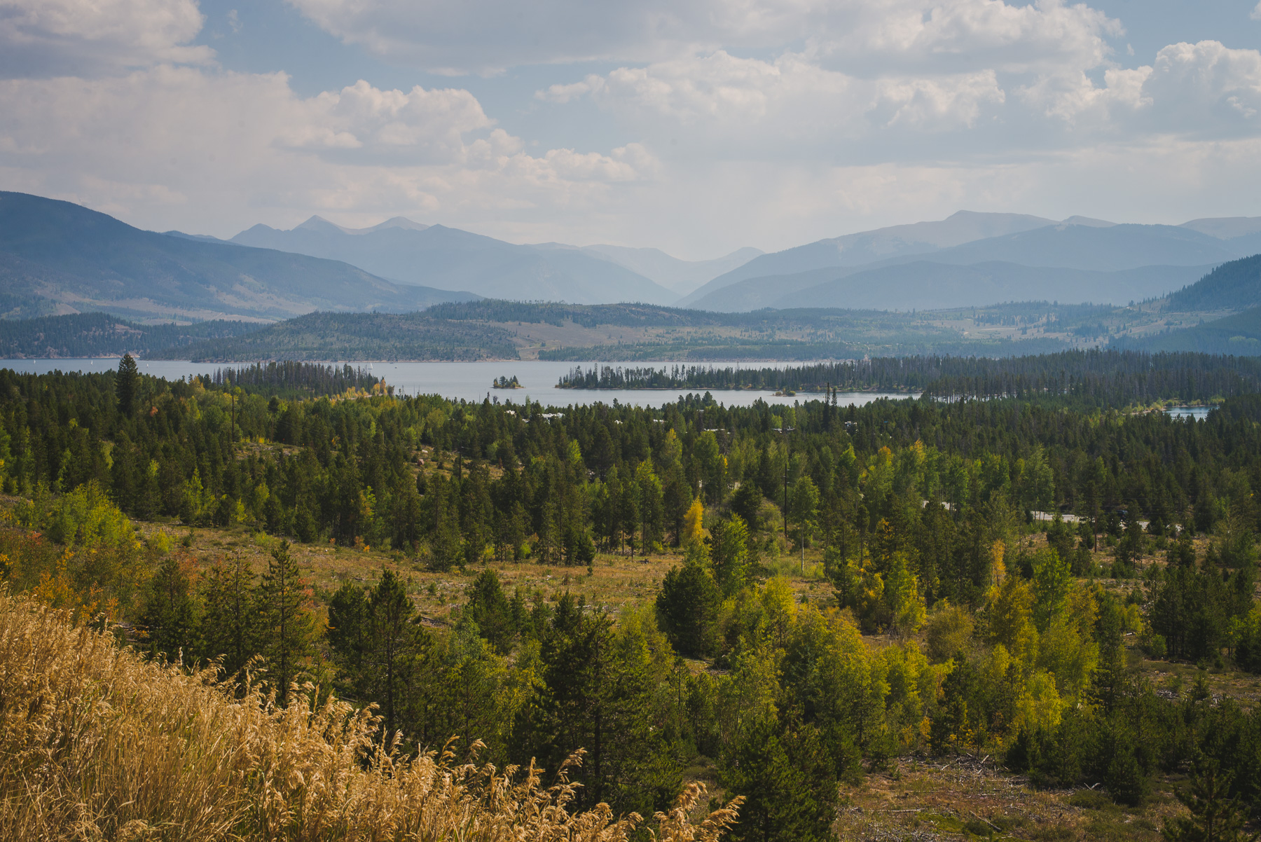 Lake Dillon and the Continental Divide in Summit County, Colorado