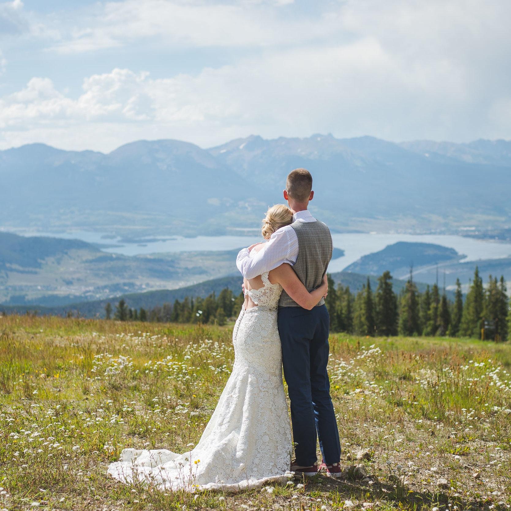 summer keystone colorado mountain wedding