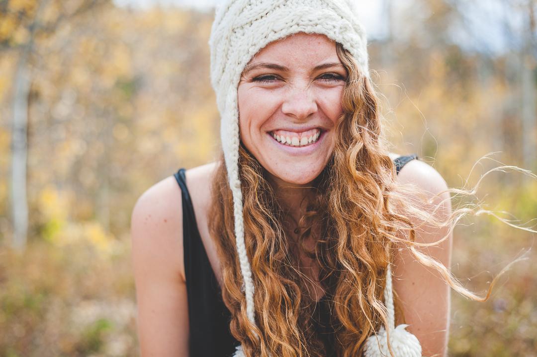 young woman smile headshot