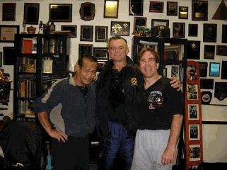 Sifu Keith Wetoskey with Sifu Larry Hartsell and Guro Dan Inosanto