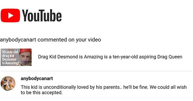 We did this short doc on Desmond, who is ten years old, openly gay, living his best life, and is supported by his parents. Most comments really suck, but this one is nice. Link in bio.
