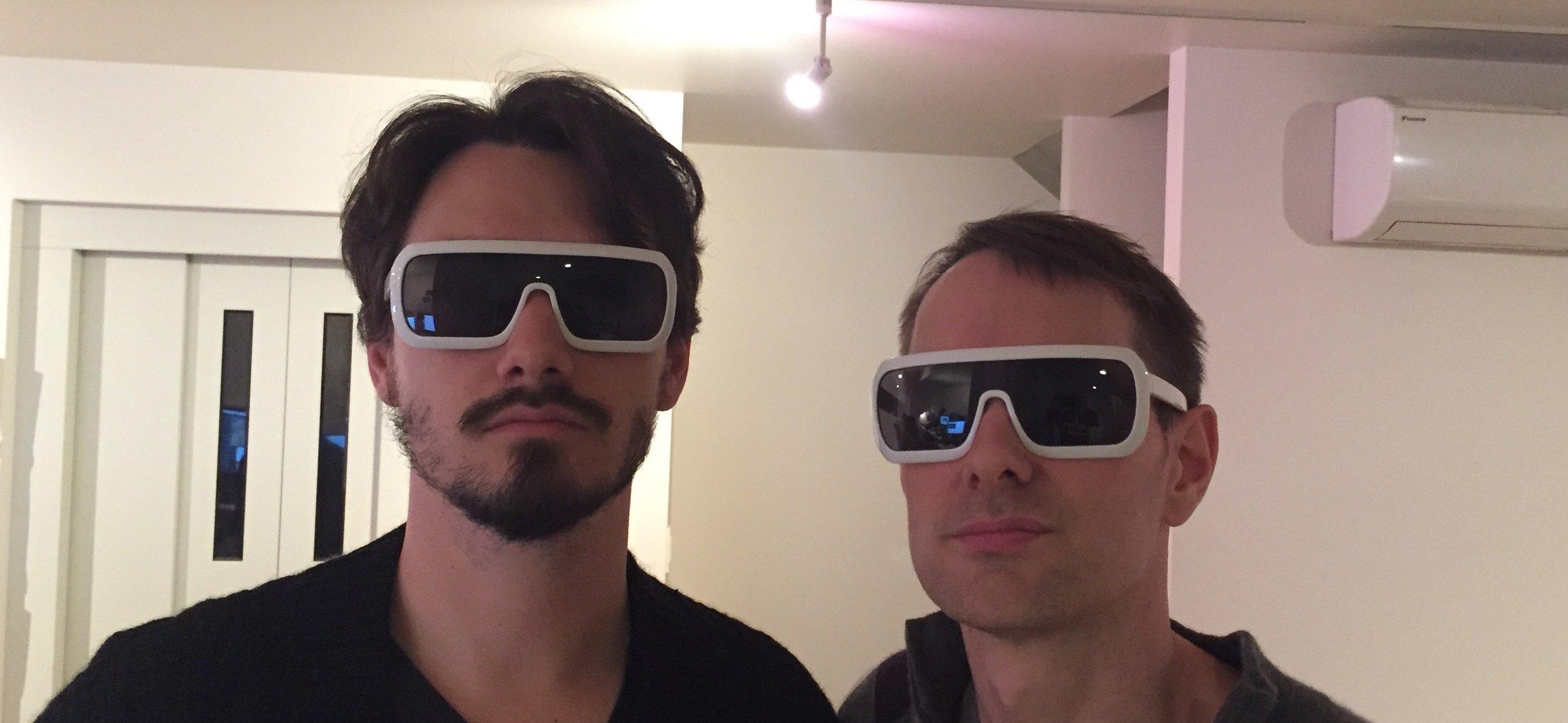 (Raz and Matt, safe at home, proudly sporting PSX FutureGlasses™)