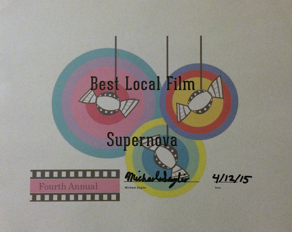 "My short film, ""Supernova"", won Best Local Film at the  Short. Sweet. Film Festival  - If you want to see the film again, here is a link:  https://www.youtube.com/watch?v=lkPyeP6lTXA"