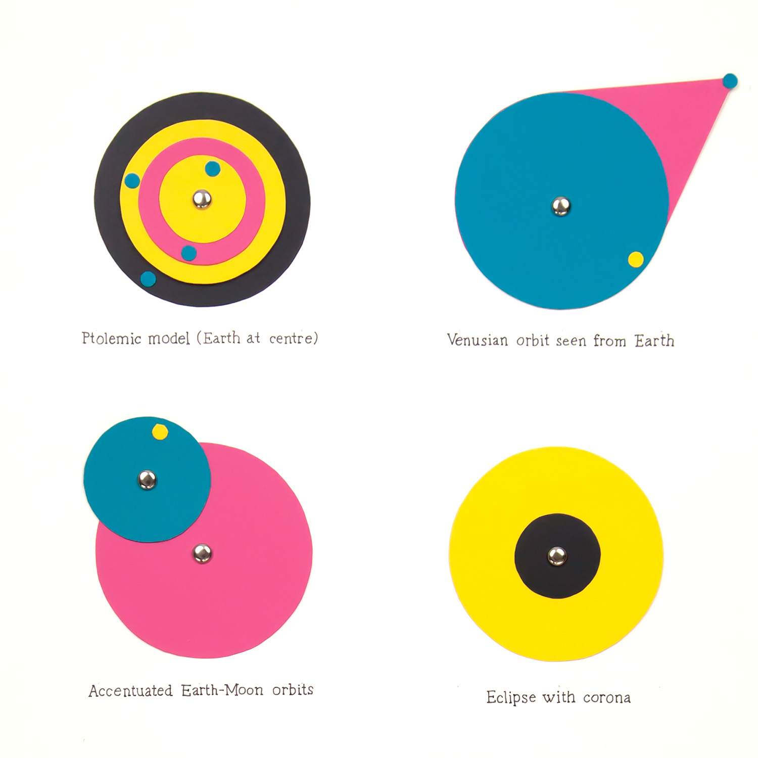 Astronomical Diagrams  collage of card,paper fasteners