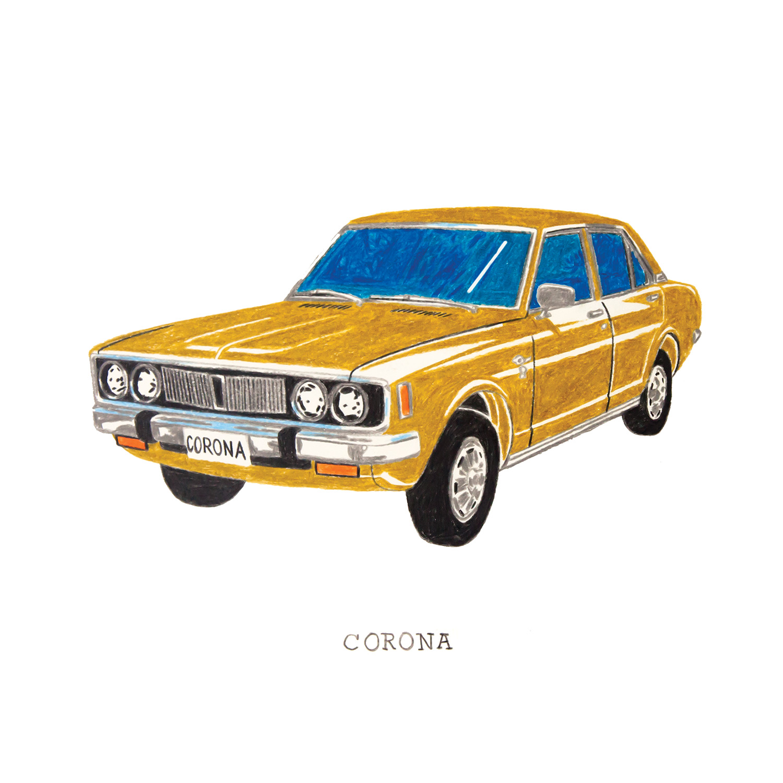 Corona  coloured pencil drawing