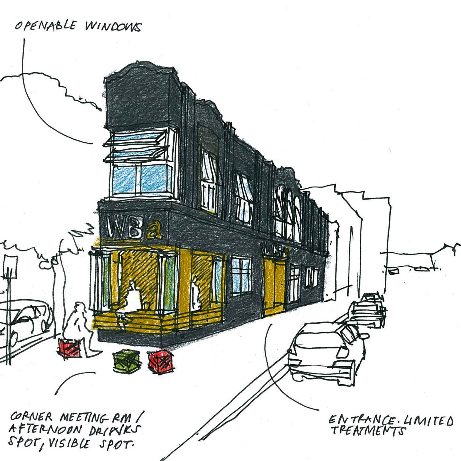 51 Leicester St Concept Sketch  atWilliams Boag Architects