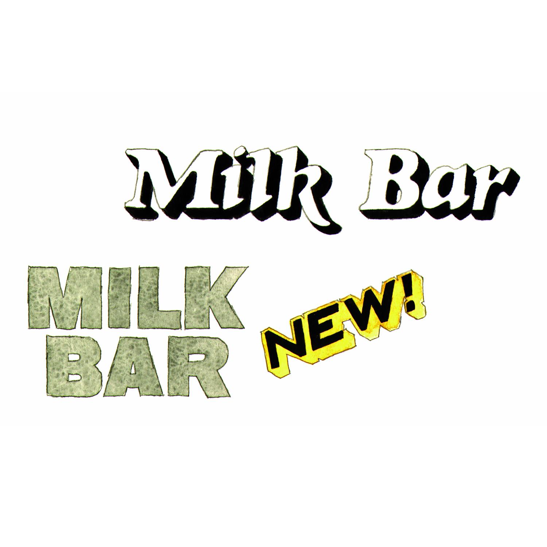 Milkbar Sign, Northcote  illustration, pencil, watercolour