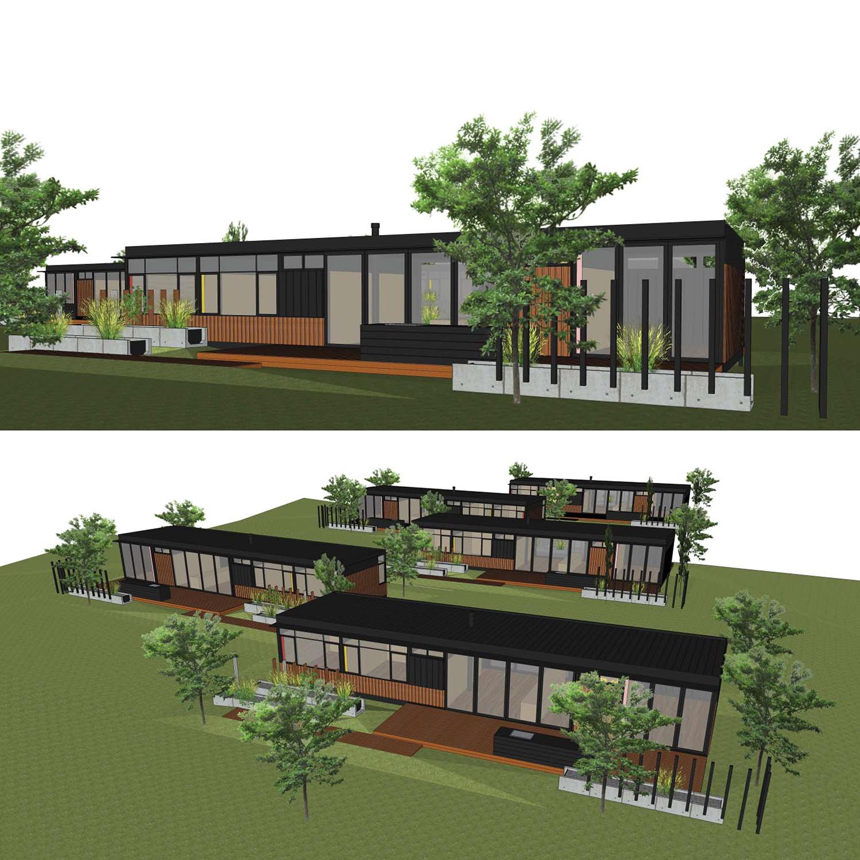 Waiheke Beach Houses, NZ  design concept