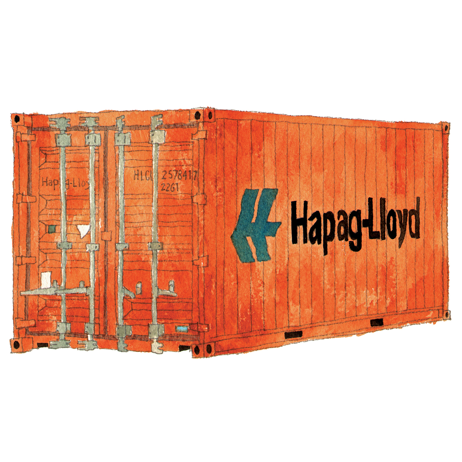 Hapag Lloyd Shipping Container   issue 19 2016