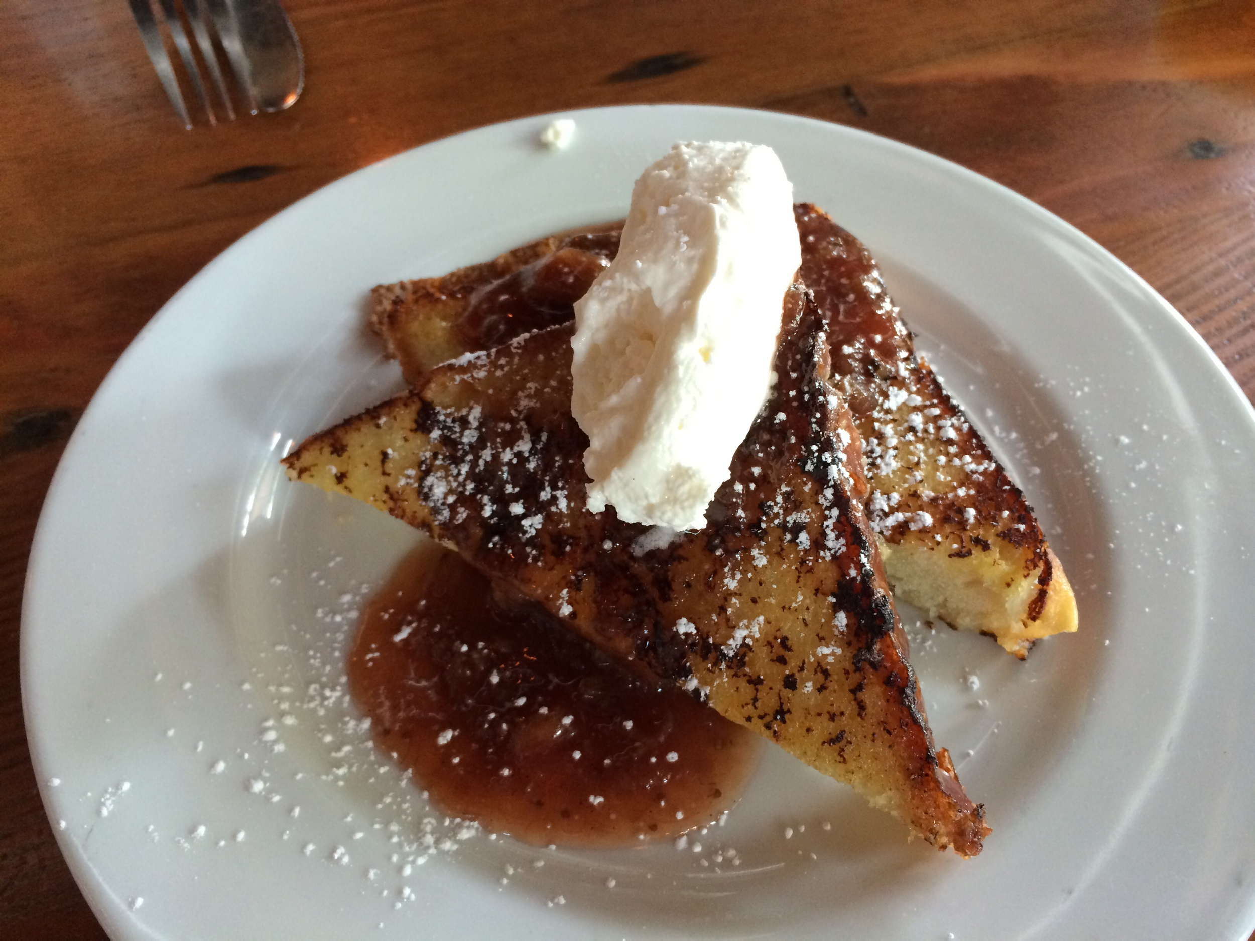 Half portion of french toast