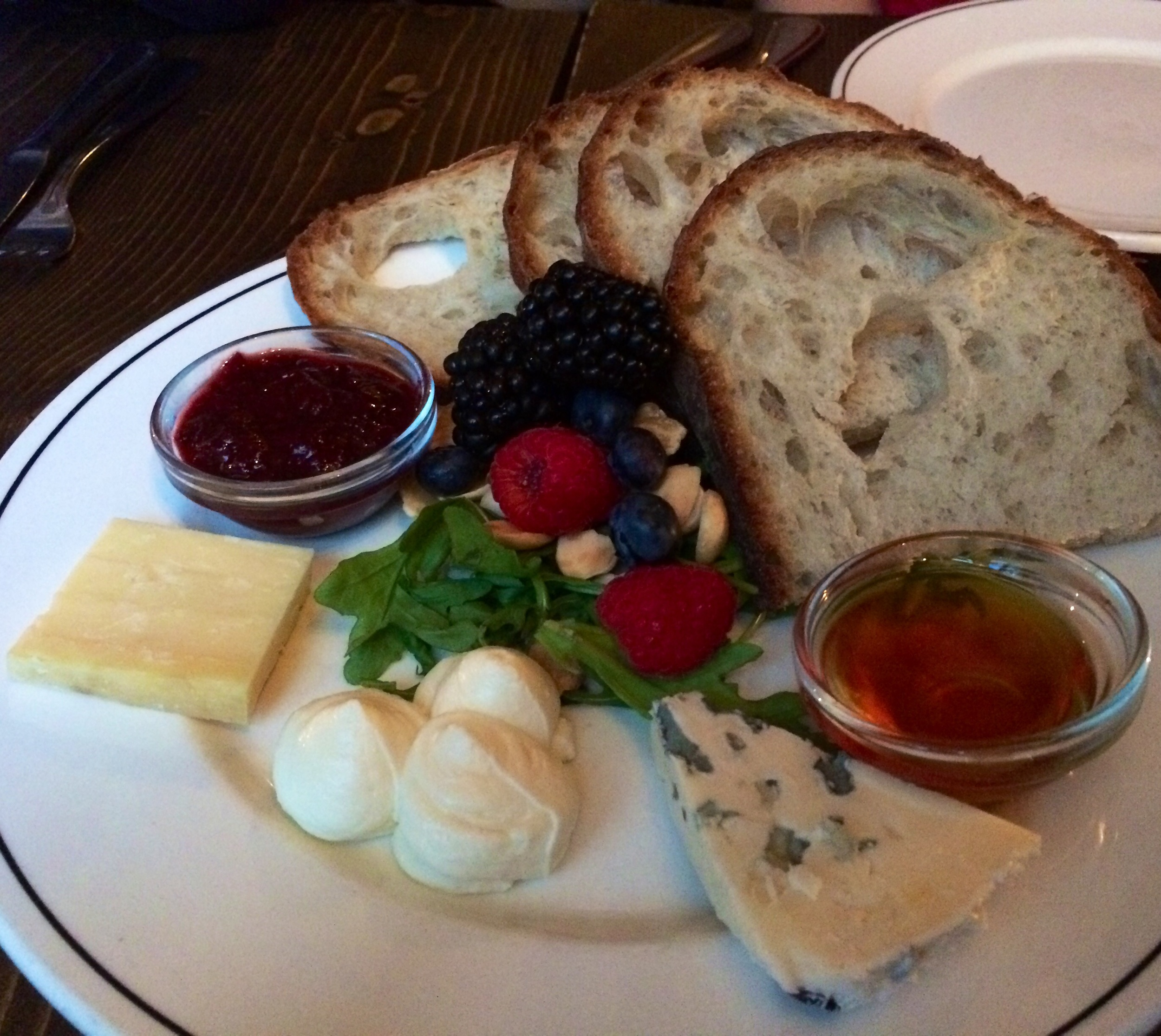 ASSORTED CHEESES, TOASTED MARCONA ALMONDS, LOCAL HONEY & PRESERVES, FRESH BREADS