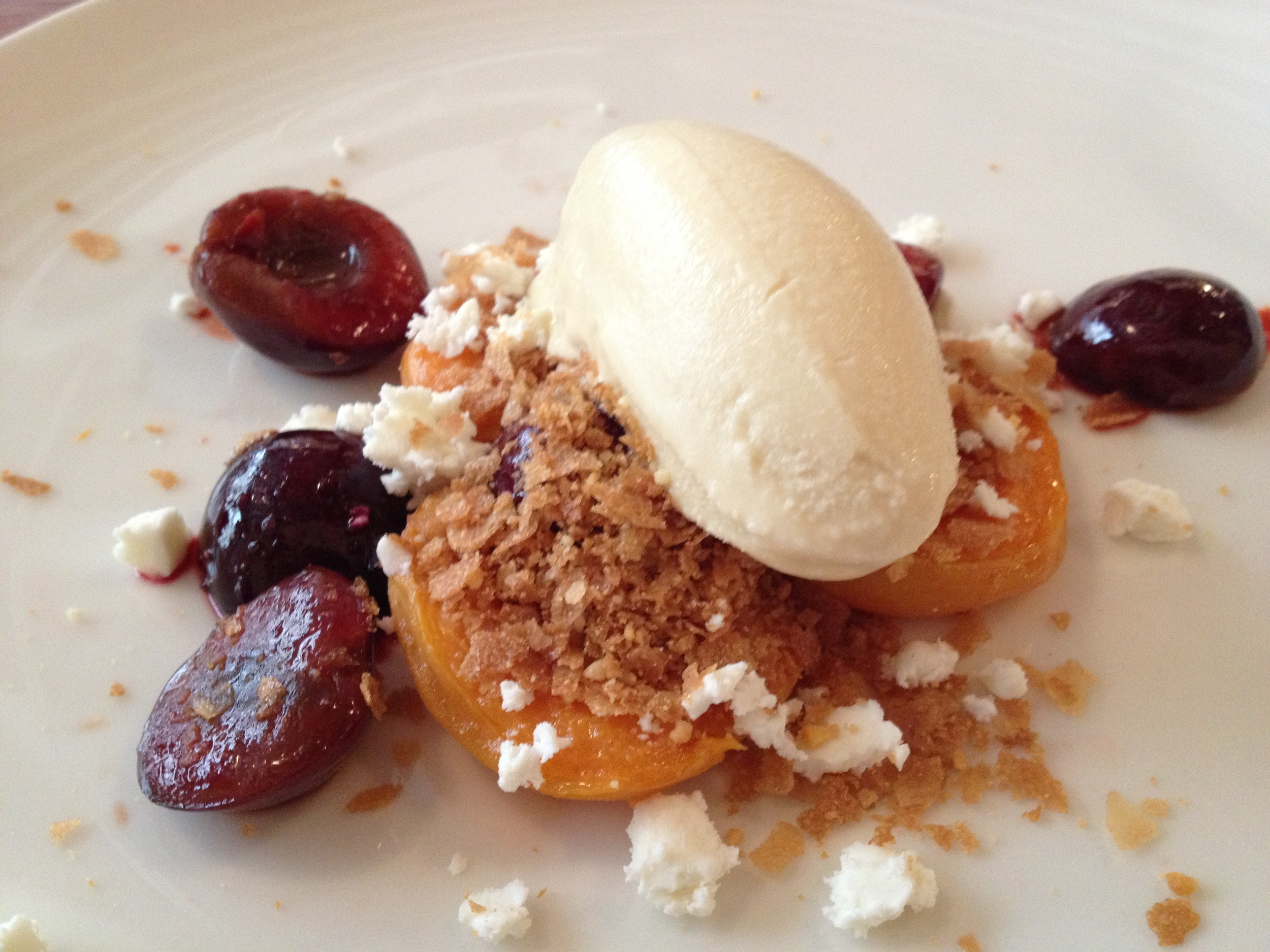 PEACHES, CHERRIES, AND ICE-CREAM