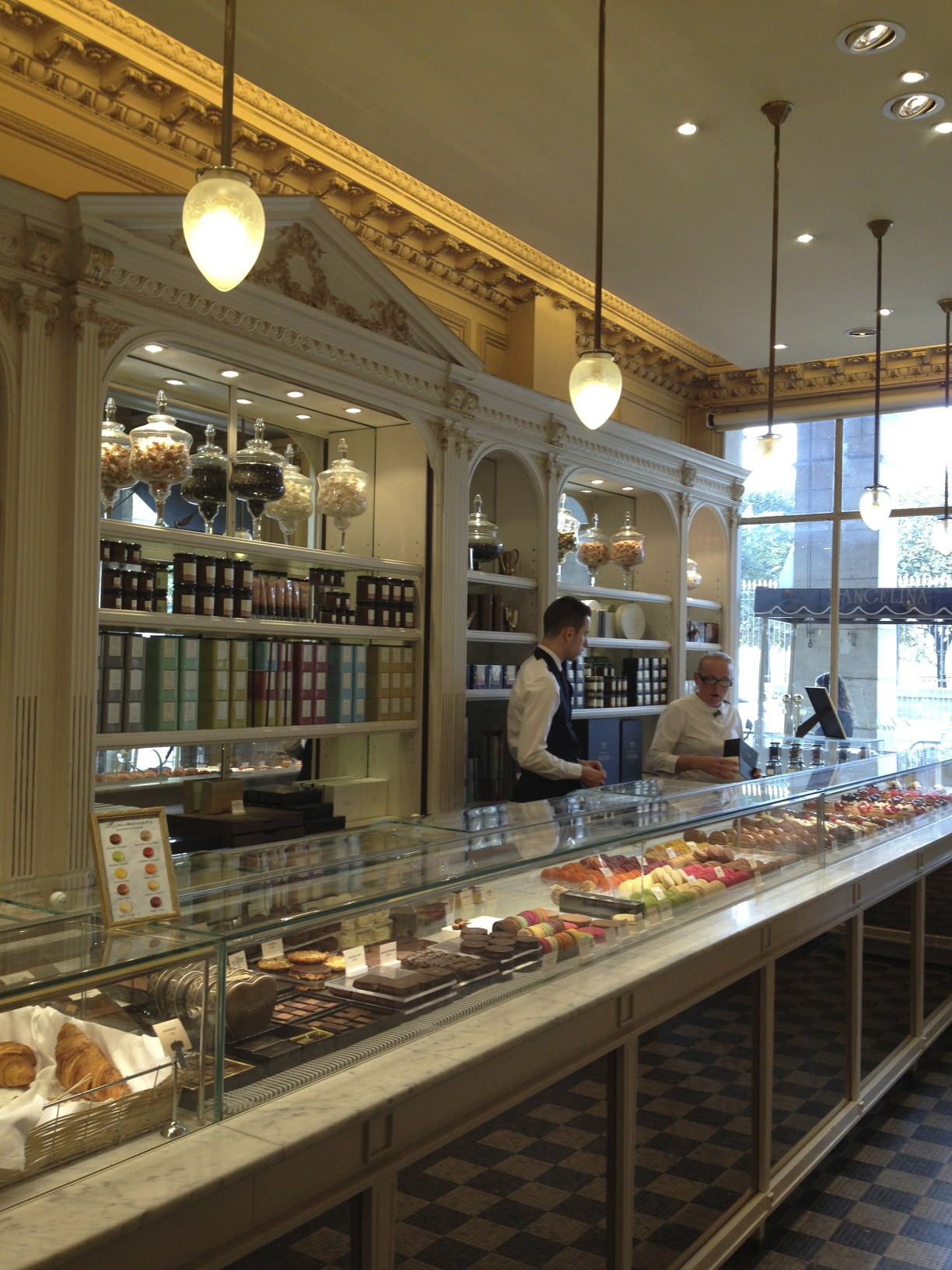 THE FRONT PARLOR IS A PATISSERIE
