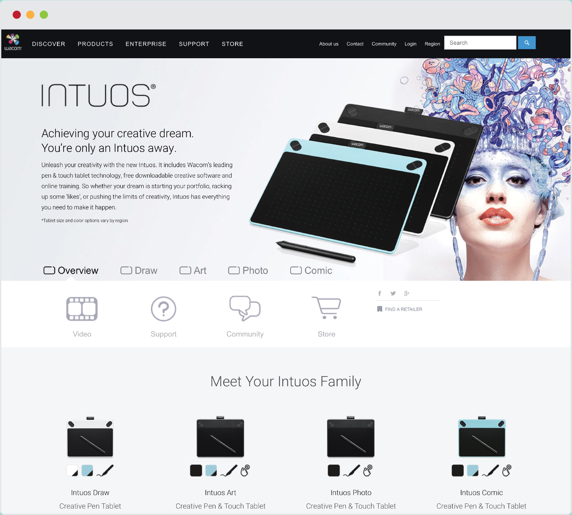 Wacom Intuos® Web Design  |   VIEW FULL PROJECT