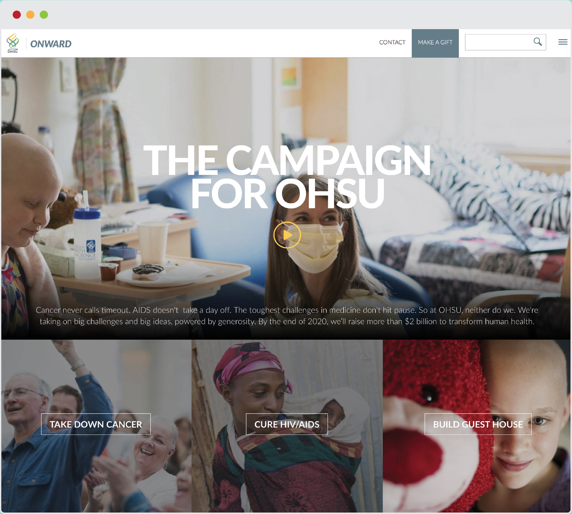 OHSU Onward Web Design  |    VIEW FULL PROJECT