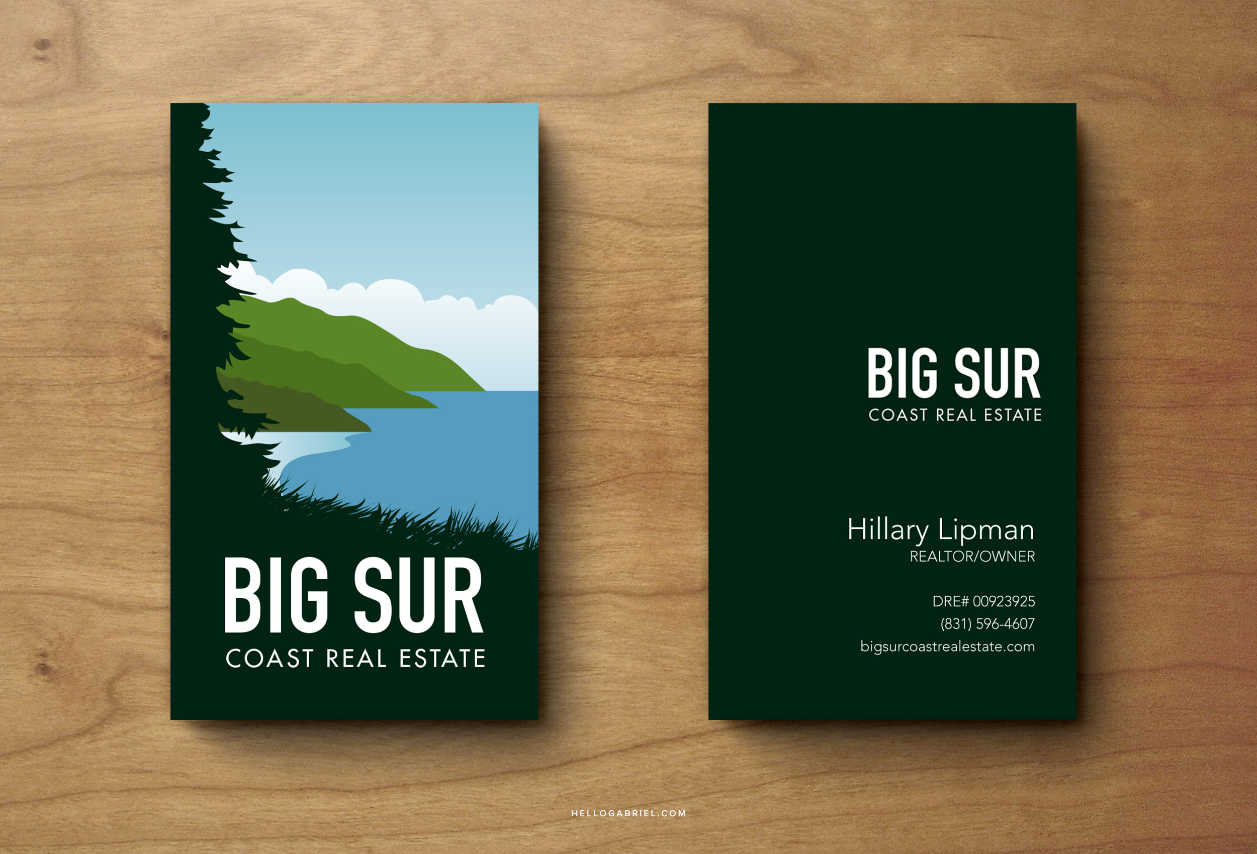 Big Sur Coast Real Estate Logo Design  |    VIEW FULL PROJECT