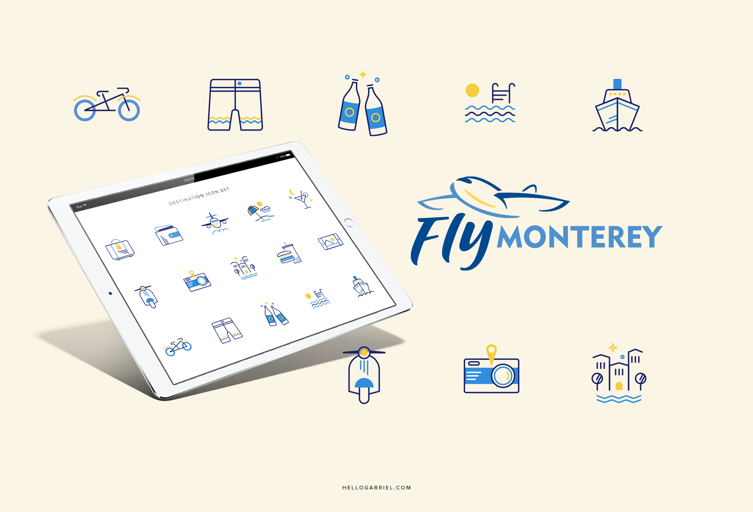 Fly Monterey Logo Design + Iconography  |    VIEW FULL PROJECT