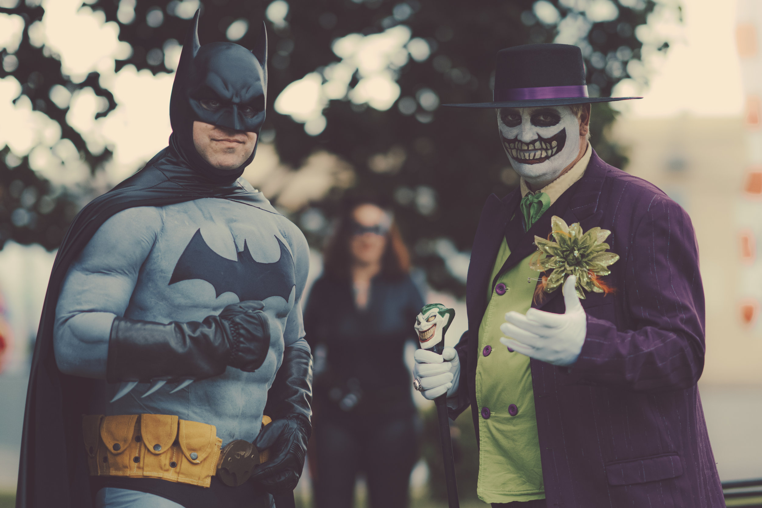 BATMAN AND JOKER.