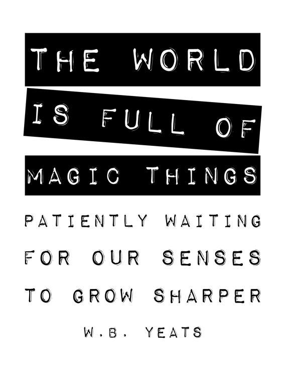 Magic Things print on Etsy