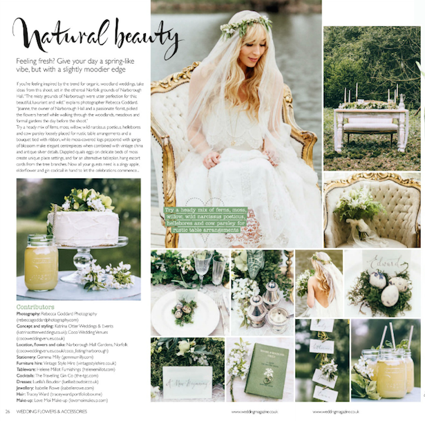 The Coco Wedding Venues/Katrina Otter shoot features in Wedding Flowers & Accessories magazine...
