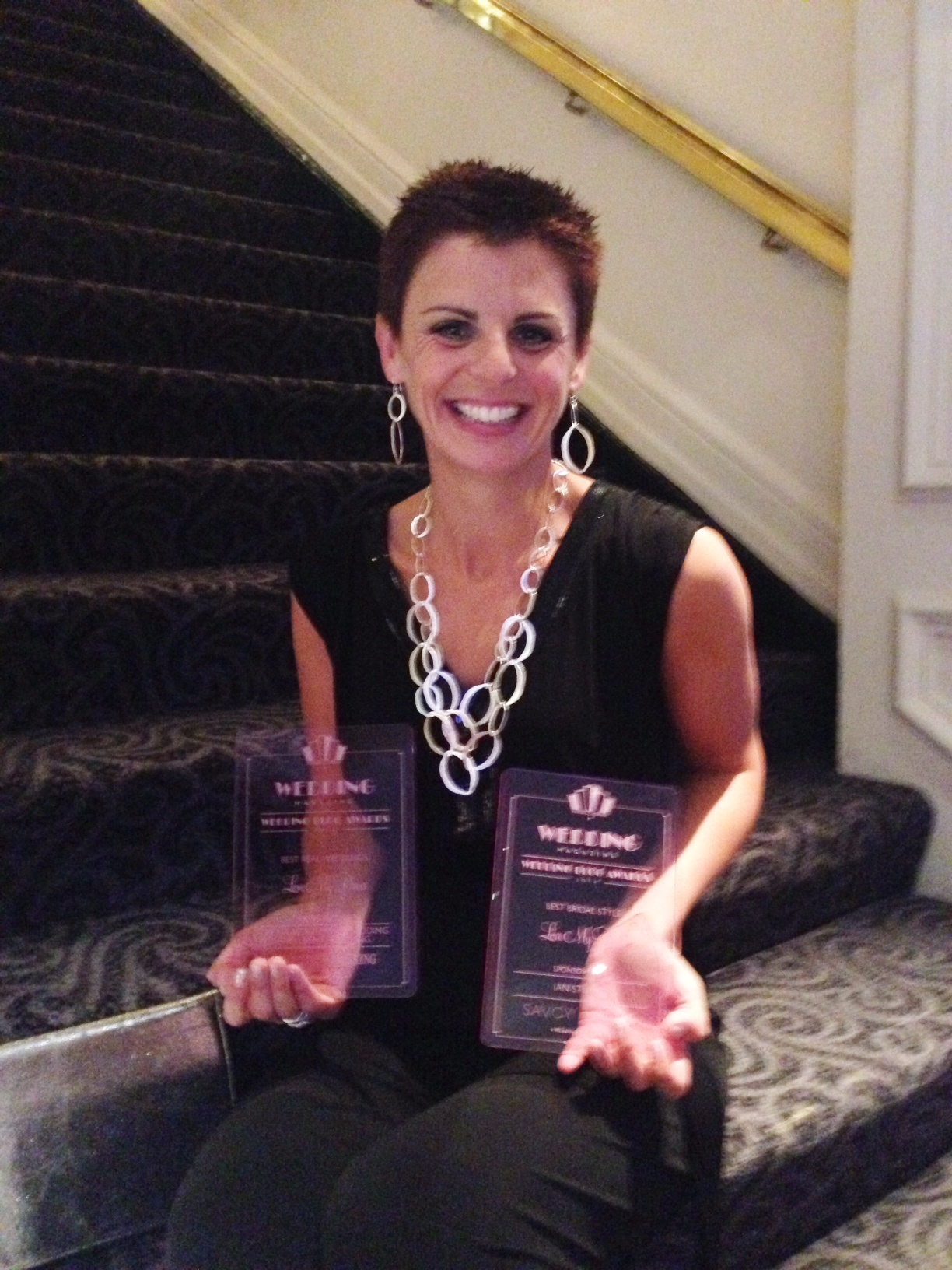 Who doesn't sit on the stairs in The Savoy of a Friday night clutching two awards?