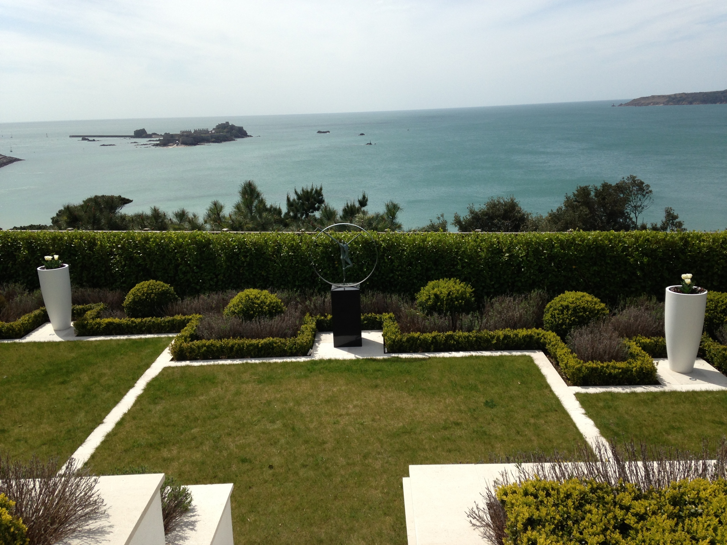 Contemporary formal garden