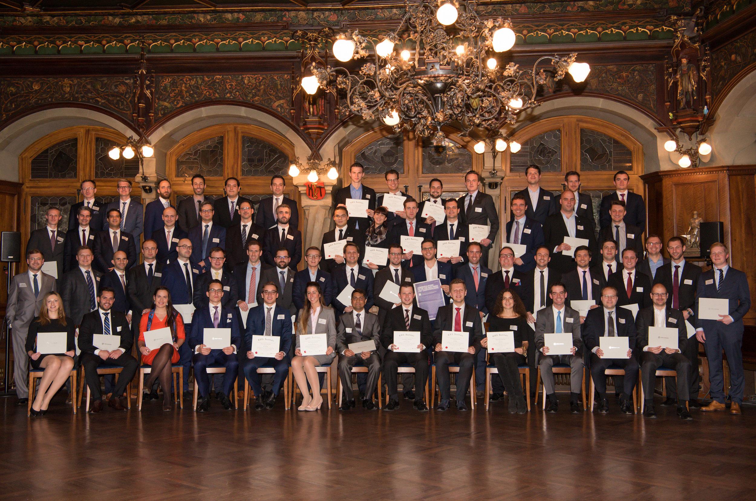 CFA Class of 2016 in Zürich