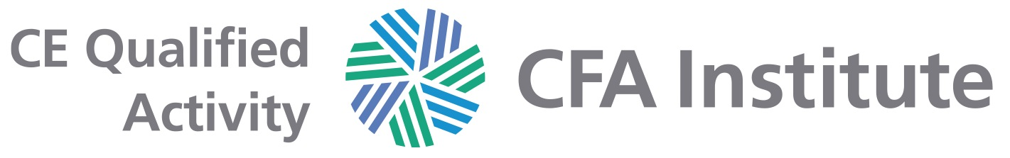 CE Qualified Activity – five CE credit hours    As a participant in the CFA Institute Approved-Provider Program, CFA Switzerland has determined that this event qualifies for     five CE credit hours.   If you are a CFA Institute member, credit for your participation in this event will be automatically recorded in your CE tracking tool.