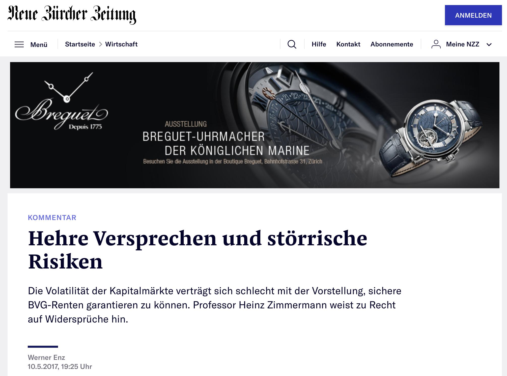 Neue Zürcher Zeitung, 2017
