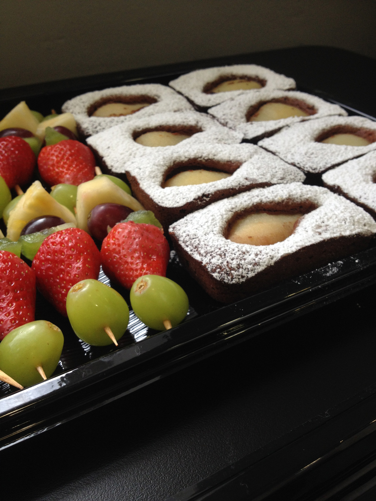 Chocolate, Pear & Amaretti Cake.