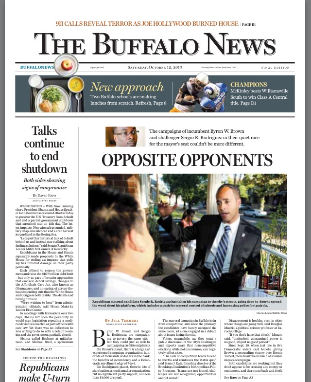 Sergio Buffalo News Feature