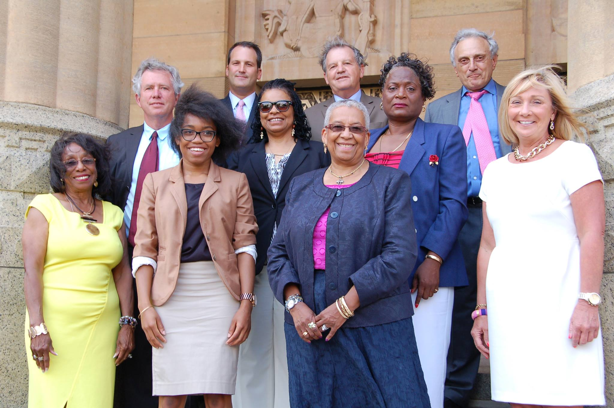 The new Buffalo Board of Education members were sworn in July 1st, 2014 at Buffalo City Hall. The newly established board elected James Sampson as its president.