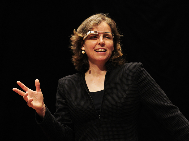 Buffalo native and City Honors graduate Megan Smith was named the new Chief of Technology Officer by President Obama.  Photo: Smith modeling  a pair of Google Glasses,