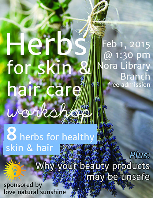 Advertisement Herbs for Skin and Hair Workshop