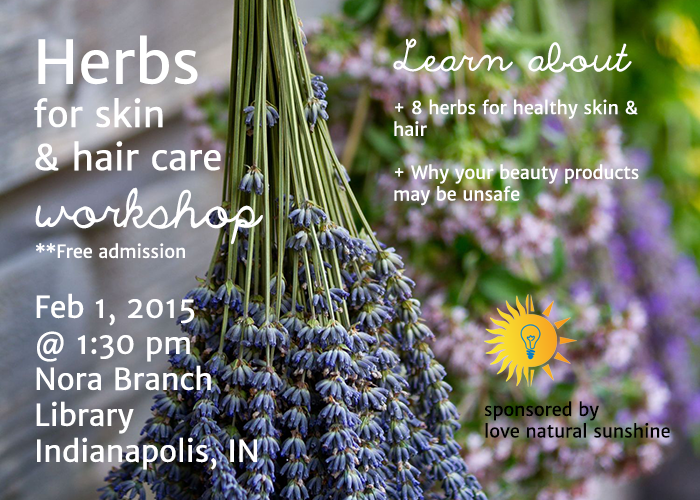 Advertisement Herbs for Skin and Hair Workshop Web