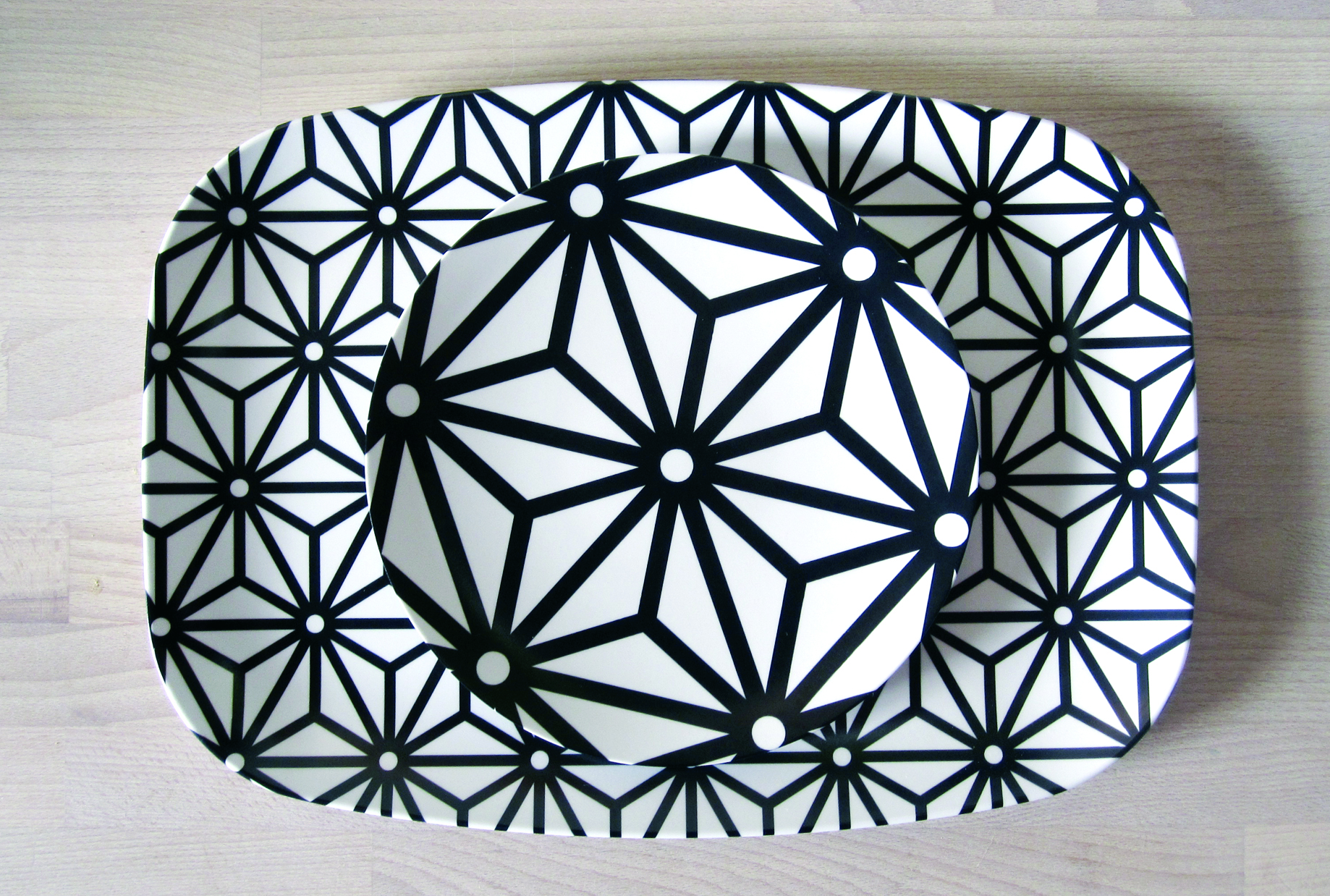 textile tray and plate