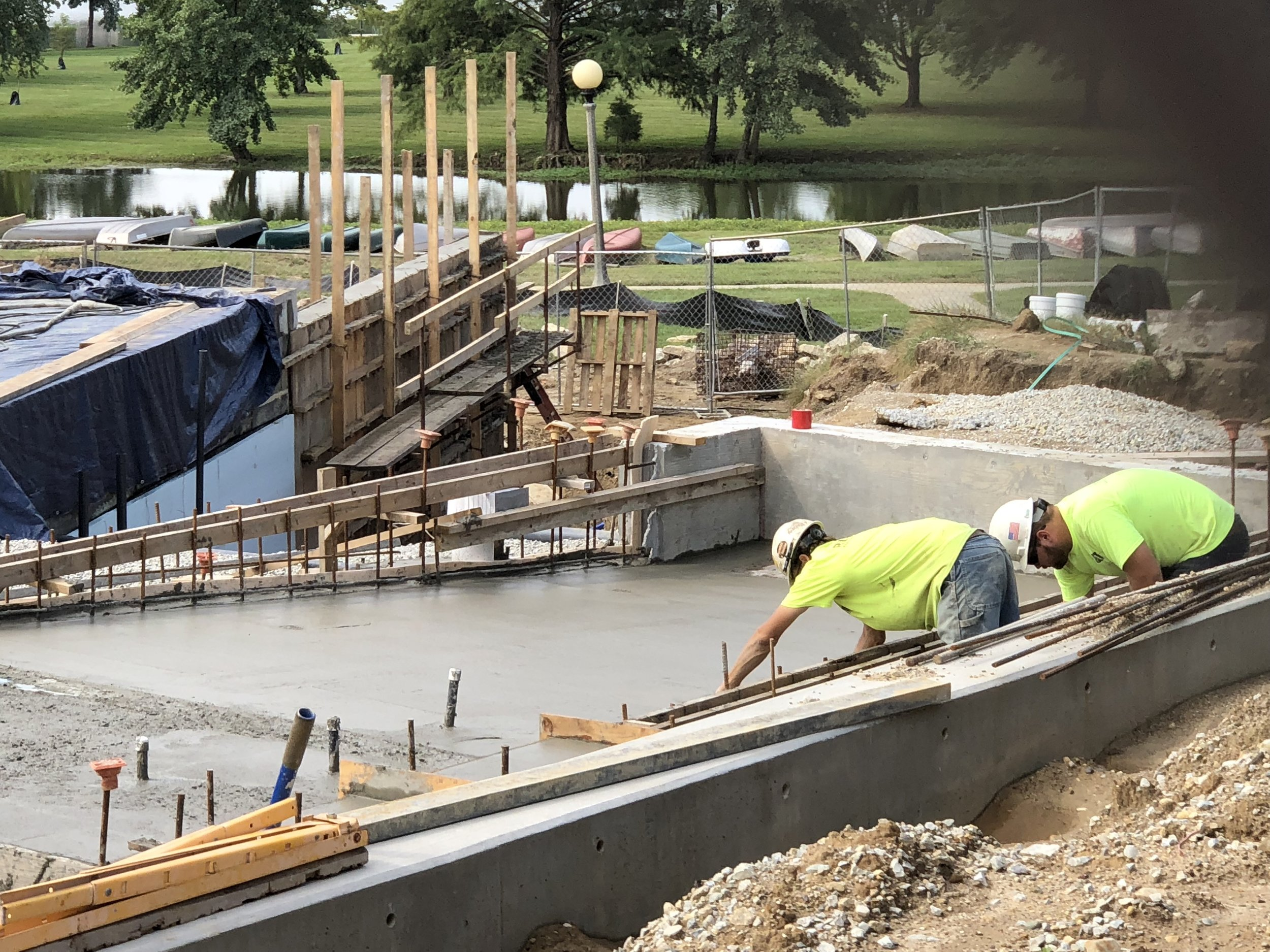 Pouring the wading pool floor - September, 2018