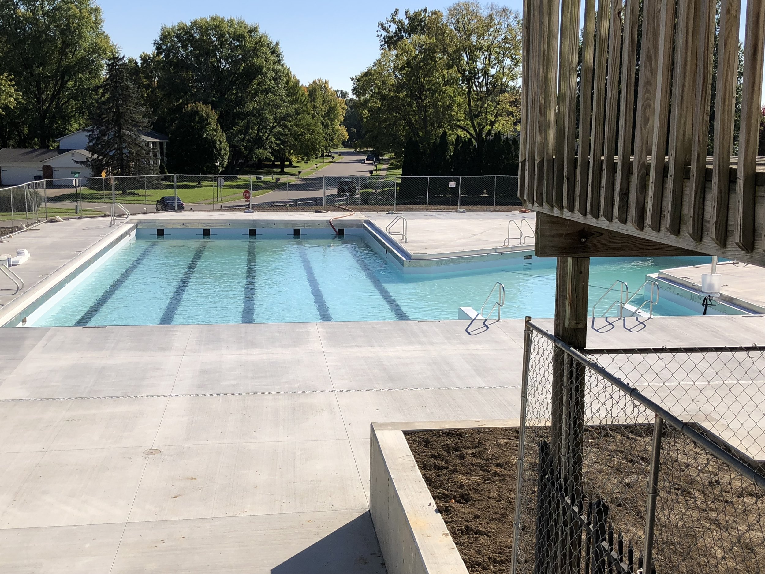 Beginning of 1st filling of the Woodland Springs Pool 10/18/2018
