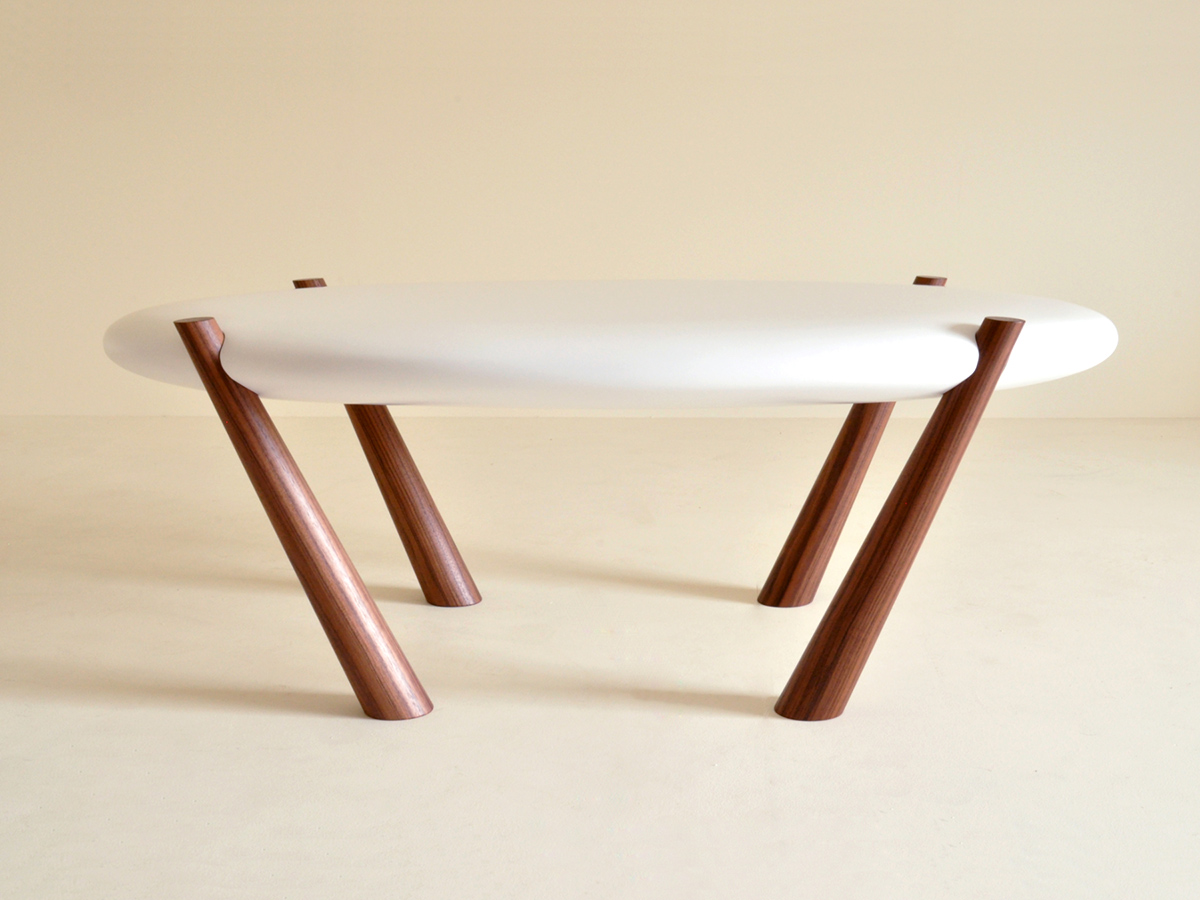 George Harding's No 27.4 Coffee table. This table was designed to be self supporting with no fixtures or fittings - the legs just slot in.George Harding's No 27.4 Coffee table.