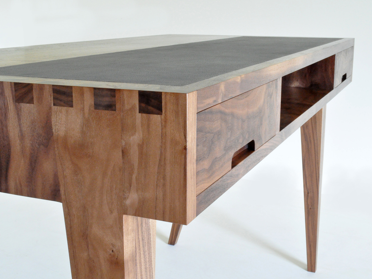 George Harding's solid Walnut desk.