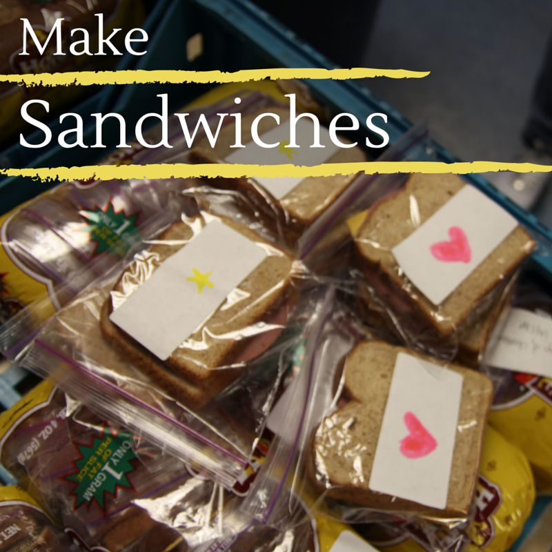Fight poverty: make sandwiches for a shelter