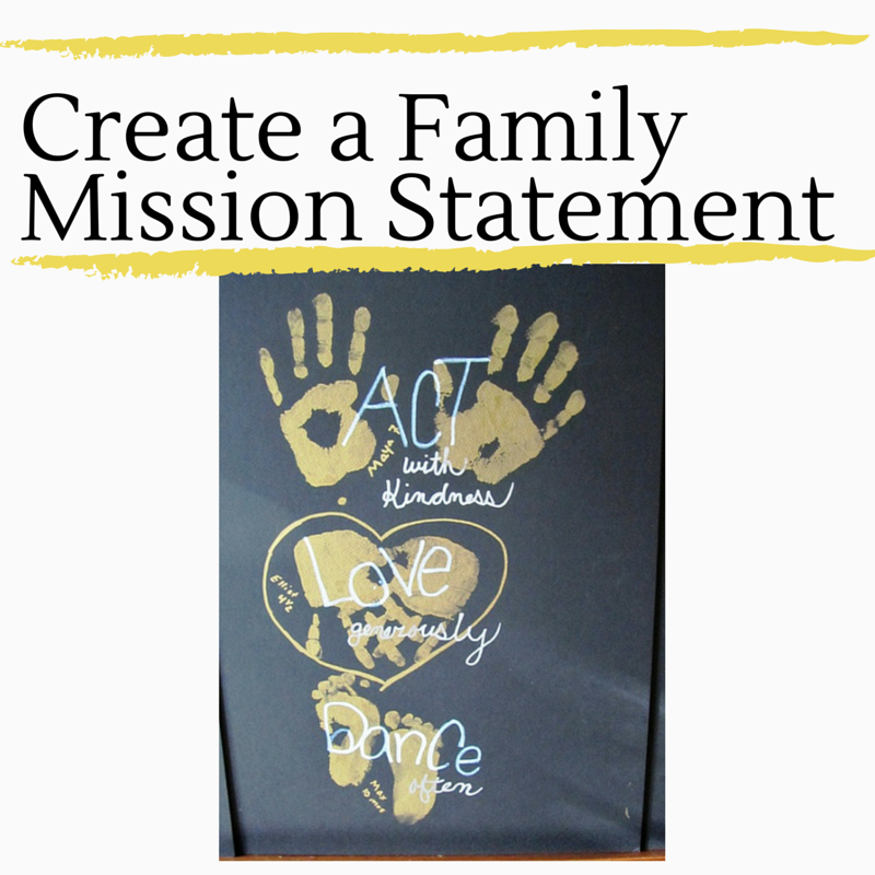 Create a Family Mission Statement