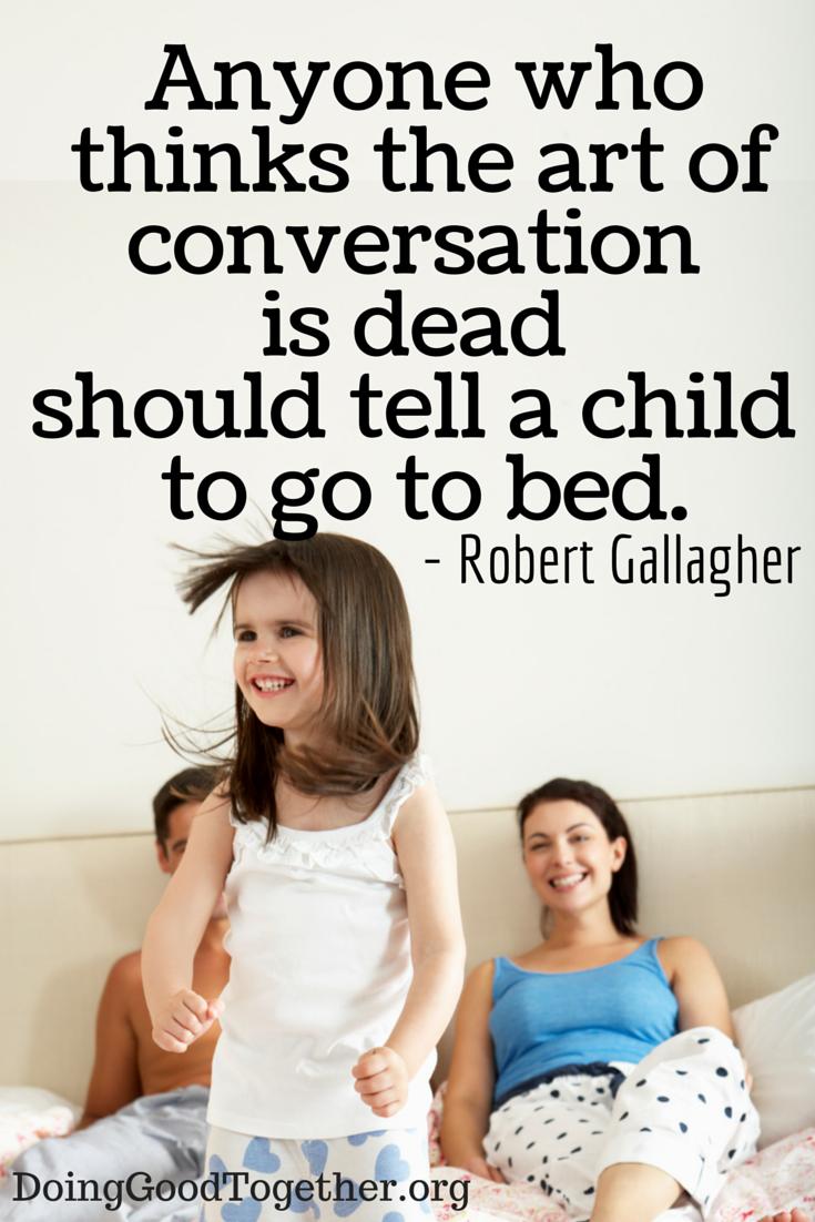 "Conversation starters beyond ""how's school going"""