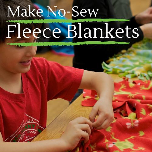 Make No-Sew Fleece Blankets