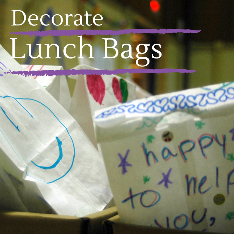 Decorate Lunch Bags for Meals on Wheels